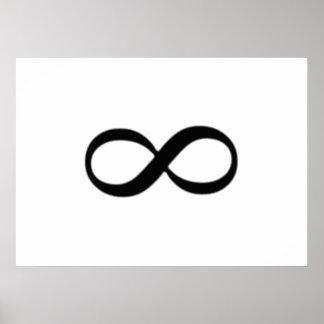 Símbolo del infinito posters