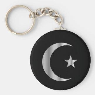 Símbolo del Islam Llavero Redondo Tipo Pin