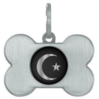 Símbolo del Islam Placas De Nombre De Mascota