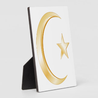 Símbolo del Islam Placa