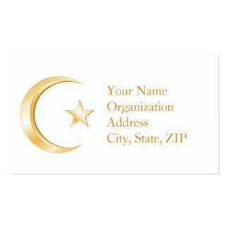 Símbolo del Islam Tarjetas De Visita