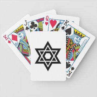 Símbolo del judaísmo (estrella de David) Baraja Cartas De Poker