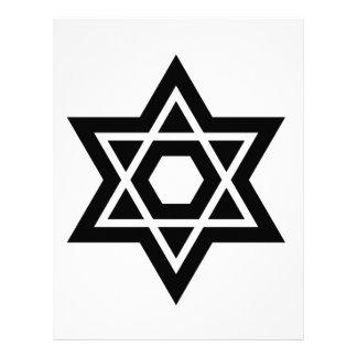 Símbolo del judaísmo (estrella de David) Membrete