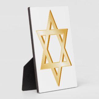 Símbolo del judaísmo placas de plastico