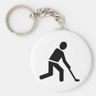 Símbolo del jugador de hockey hierba llaveros personalizados