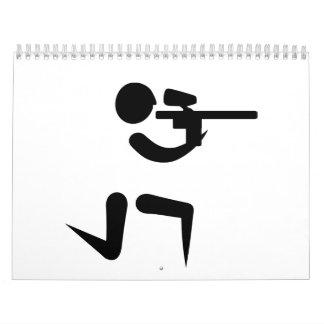 Símbolo del jugador de Paintball Calendario