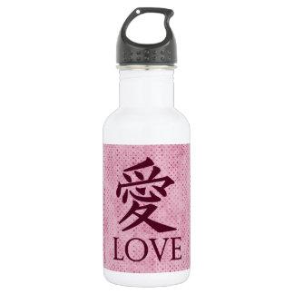 Símbolo del kanji del amor en fondo texturizado