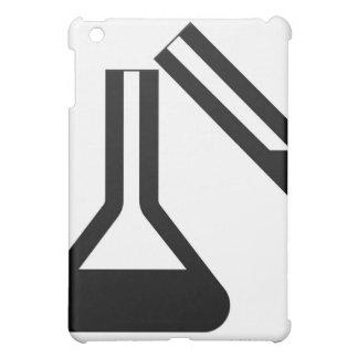 Símbolo del laboratorio contra el fondo blanco