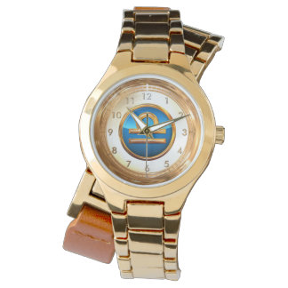 Símbolo del libra relojes de pulsera