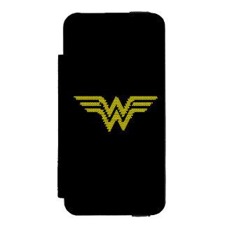 Símbolo del Lite-Brite WW Funda Billetera Para iPhone 5 Watson