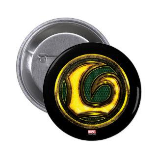 Símbolo del Loki de las obras clásicas el | de los Pin Redondo De 2 Pulgadas