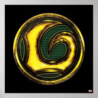 Símbolo del Loki de las obras clásicas el   de los Póster