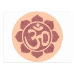 símbolo del loto del ohmio postales