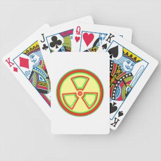 Símbolo del material radioactivo baraja de cartas