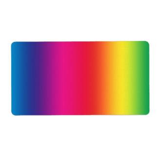 Símbolo del movimiento social de LGBT Etiqueta De Envío