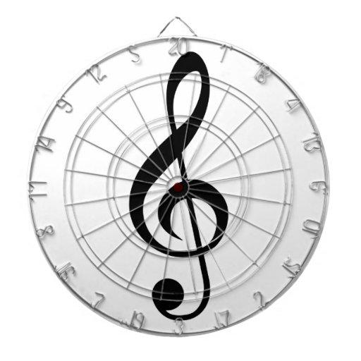 Símbolo del Musical del G-Clef del Clef agudo Tabla Dardos