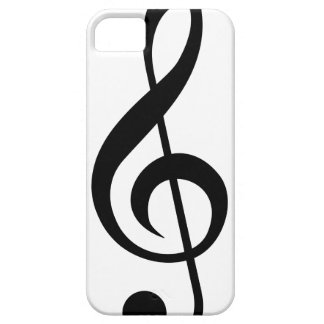 Símbolo del Musical del G-Clef del Clef agudo iPhone 5 Case-Mate Cárcasas