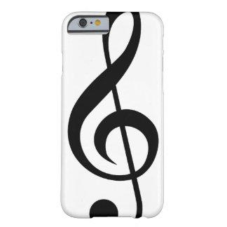 Símbolo del Musical del G-Clef del Clef agudo Funda De iPhone 6 Barely There