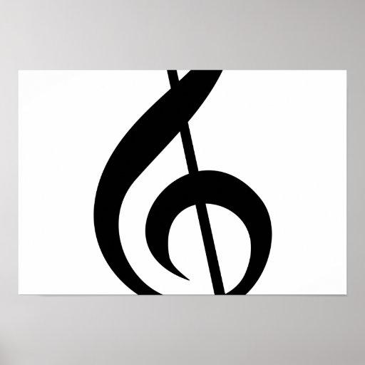 Símbolo del Musical del G-Clef del Clef agudo Poster