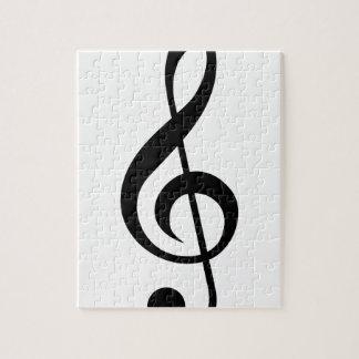Símbolo del Musical del G-Clef del Clef agudo Rompecabezas Con Fotos