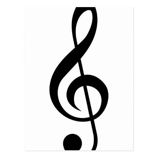 Símbolo del Musical del G-Clef del Clef agudo Tarjetas Postales