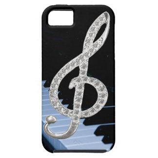 Símbolo del musical del piano funda para iPhone SE/5/5s