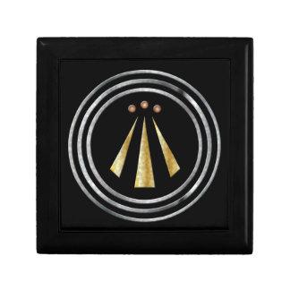 Símbolo del Neo-Druida de la plata y del oro de Joyero Cuadrado Pequeño