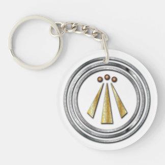 Símbolo del Neo-Druida de la plata y del oro de la Llavero Redondo Acrílico A Doble Cara