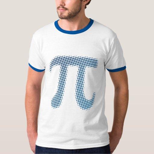 Símbolo del número del pi camisas