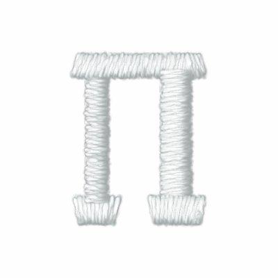 Símbolo del número del pi sudadera bordada