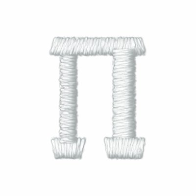 Símbolo del número del pi sudadera bordada con capucha