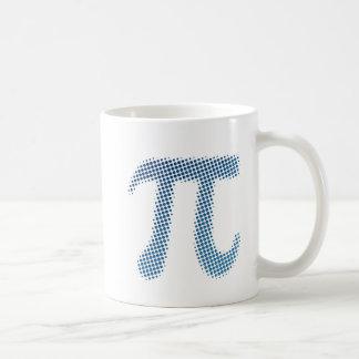 Símbolo del número del pi taza