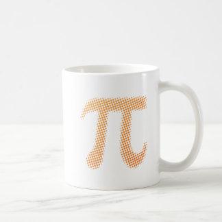 Símbolo del número del pi taza básica blanca
