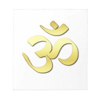 Símbolo del ohmio bloc de papel