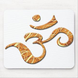 Símbolo del ohmio en el bronce (Mousepad) Tapete De Ratones