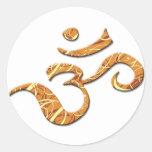 Símbolo del ohmio en el bronce (pegatina)