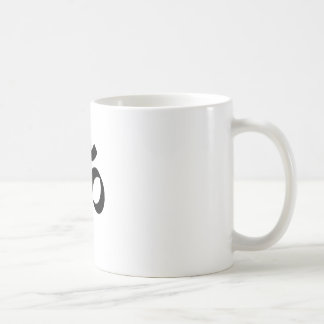 Símbolo del ohmio taza de café