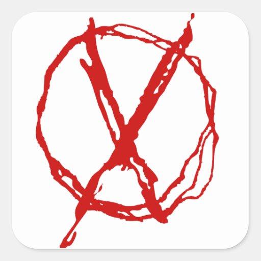Símbolo del operador calcomanías cuadradass personalizadas