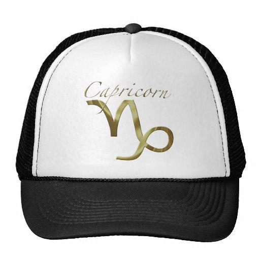 Símbolo del oro del Capricornio Gorro