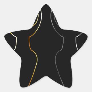 Símbolo del oro y de la plata de la diosa de pegatina en forma de estrella