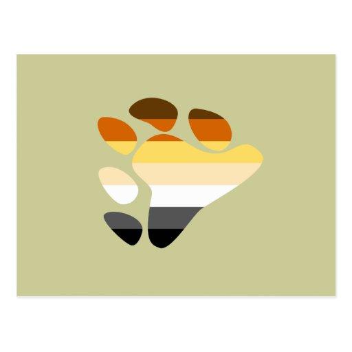 Símbolo del oso tarjetas postales