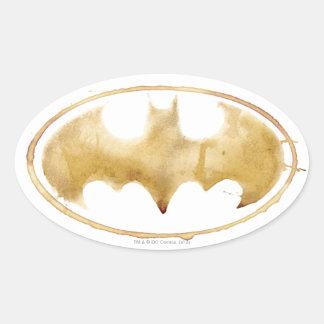 Símbolo del palo del café calcomania de óval personalizadas