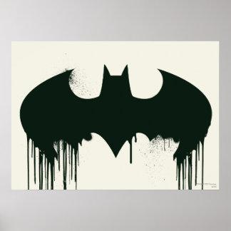 Símbolo del palo - logotipo Spraypaint de Batman Posters