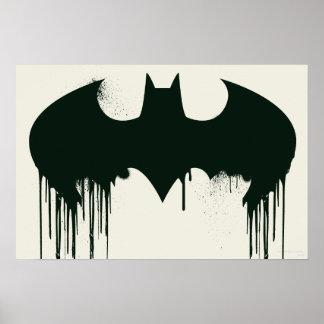 Símbolo del palo - logotipo Spraypaint de Batman Poster