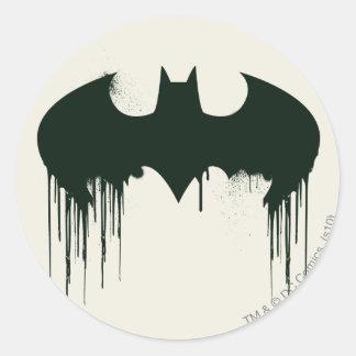 Símbolo del palo - logotipo Spraypaint de Batman Pegatina Redonda
