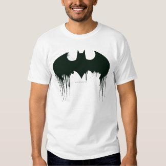 Símbolo del palo - logotipo Spraypaint de Batman Remeras