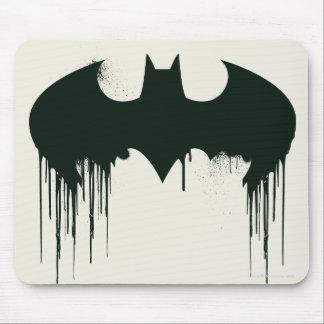 Símbolo del palo - logotipo Spraypaint de Batman Tapetes De Ratón