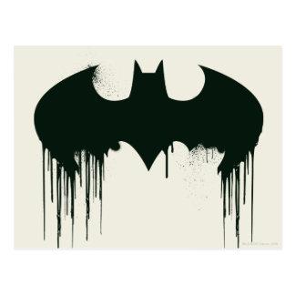 Símbolo del palo - logotipo Spraypaint de Batman Postales