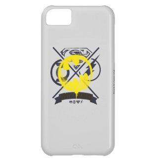 Símbolo del palo marcado con etiqueta sobre la carcasa iPhone 5C