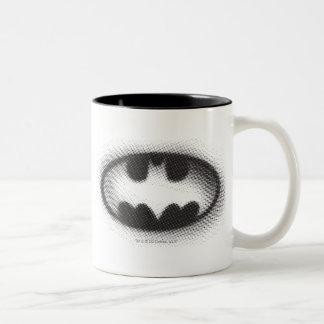 Símbolo del palo - tono medio del logotipo de Batm Tazas De Café